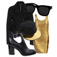Look 2: Glam-meets-grunge = $149.90
