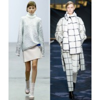 Snow white Iceberg. http://www.vogue.co.uk/fashion/autumn-winter-2014/ready-to-wear/iceberg Tod's. Source via Style.com. http://www.style.com/fashionshows/review/F2014RTW-TODS/
