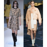 Naturally neutral Gucci. via WWD. http://www.wwd.com/runway/fall-ready-to-wear-2014/review/gucci Tod's via Style.com. http://www.style.com/fashionshows/review/F2014RTW-TODS/