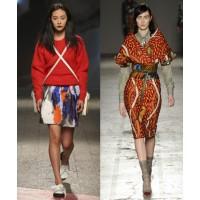 MSGM via Vogue UK. http://www.vogue.co.uk/fashion/autumn-winter-2014/ready-to-wear/msgm/full-length-photos/gallery/1134549 Stella Jean via Vogue UK. http://www.vogue.co.uk/fashion/autumn-winter-2014/ready-to-wear/stella-jean/full-length-photos/gallery/113