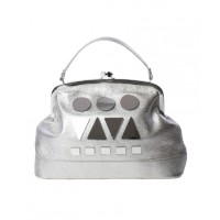 From Meredith Wilkins' Spring/Summer 2013 handbag collection, Pleiades, which is inspired by geometric abstract art. Bizi Palermo Pleiades Large Frame Satchel, USD$598. http://shopbizi.com/products/palermo
