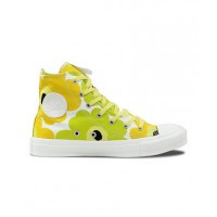 Marimekko's eye-popping prints have long been considered art. Here, Converse Chuck Taylor All Star High-Tops are the canvas. http://www.converse.com.au/537175-yellow-lime-black