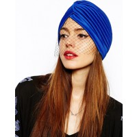 ASOS Turban with Net Detail, $23.77. http://www.asos.com/au/ASOS/ASOS-Turban-With-Net-Detail/Prod/pgeproduct.aspx?iid=3754508&SearchQuery=turban&sh=0&pge=0&pgesize=36&sort=-1&clr=Blue