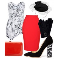 Look 1: Red hot