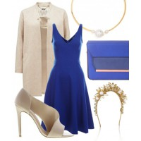 Look 4: Royal blue