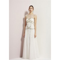 Illusion straps and backs: Rachel Gilbert Paloma Gown, $1695. http://www.rachelgilbert.com/shop/productdetails.aspx?id=10621&cid=3533