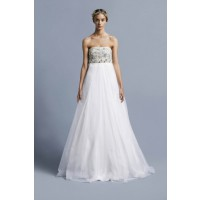 Embellished bodices: Collette Dinnigan Mermaid Jewels Beaded Bodice Gown, $2395. http://shop.collettedinnigan.com.au/mermaid-jewels-beaded-bodice-gown/