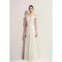 Off the shoulder: Rachel Gilbert Chelsea Gown, $1100. http://www.rachelgilbert.com/shop/productdetails.aspx?id=10627&cid=3533