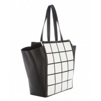 Rachael Ruddick East West Shopper in Monochrome, $510. http://rachaelruddick.com/index.php/handbags/rr-eastwest-shopper-684.html