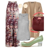 40s: Want to try mixing prints, but don't know where to start? Stripes and leopard print are a failsafe option.