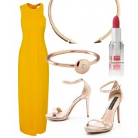 Look 5: Vibrant yellow.