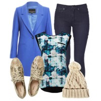 Look 2: Casual cobalt.