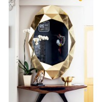 Hang an eye-catching mirror. Photography: Luke White. Source: Housetohome. http://www.housetohome.co.uk/hallway/picture/modern-gold-hallway
