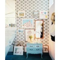 Create a gallery wall. Source: Lonny via Decoist. http://www.decoist.com/2014-02-20/entryway-decor-ideas/