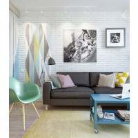 Sorbet shades. Image: INT2 Architecture via My Paridissi. http://www.myparadissi.com/2014/03/adorable-45sqm-apartment.html