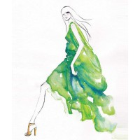 'Tatiana' by Nataliya de la Fosse (a.k.a. Studio De La Fosse) from Etsy, $21.90. https://www.etsy.com/au/listing/198489170/watercolour-art-fashion-illustration-art?ref=shop_home_active_4
