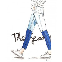 'The Jeans Fashion Illustration' by Kim Legler from Etsy, from $40.28 (for 8.5 x 11in print). https://www.etsy.com/au/listing/157157408/new-the-jeans-fashion-illustration?ref=shop_home_active_17
