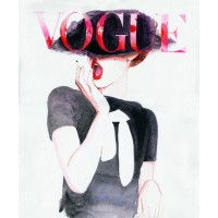 'German Vogue' by Cate Parr (a.k.a. Silver Ridge Studio) from Etsy, $38.67 (for 8.5 x 11in print). https://www.etsy.com/au/listing/60084618/vogue-cover-art-print-from-watercolor?ref=shop_home_active_8