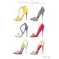 'Christian Louboutin 2014 Sextet Fashion Illustration' by Stephanie Jimenez from Etsy, from $13.26 (for 5 x 7in print). https://www.etsy.com/au/listing/191034790/christian-louboutin-2014-sextet-fashion?ref=shop_home_active_5