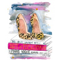 'The Leopard Heel' by Kelsey McNatt (a.k.a. Kelsey M Designs) from Etsy, $16.57 (for 5 x 7 in print). https://www.etsy.com/au/listing/170787013/fashion-illustration-watercolor-painting?ref=shop_home_active_12