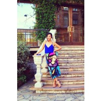 Nicole Warne wearing a striking Karla Spetic skirt in Milan. http://instagram.com/p/fPCDLiM4Oq/