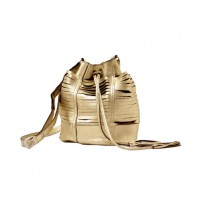 Sabrina Tech Tajos Gold Bucket Bag from Boticca, USD $180. http://boticca.com/sabrinatach/tajos-gold/25574/