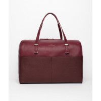 Benah for Karen Walker Nancy Overnight Bag in Burgundy, $575. http://thebenah.myshopify.com/collections/benah-for-karen-walker/products/andie-duffle-burgundy