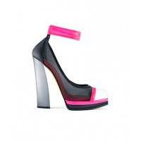 Casadei for Prabal Gurung Neon Mesh Ankle Strap Pumps, Pre-Fall 2013 Collection. http://www.elle.com/news/fashion-accessories/prabal-gurung-casadei-shoe-collaboration-pre-fall-2013