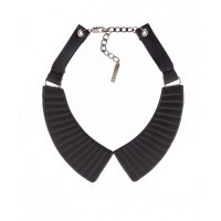 Peter Lang Odelle Leather Pleated Collar, $120. http://www.peterlang.com.au/shop/item/odelle-leather-pleated-collar