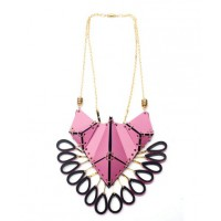 EABurns Iris Necklace in Pastel Pink from Boticca, USD$181. http://boticca.com/eaburns/iris-necklace-in-pastel-pink/