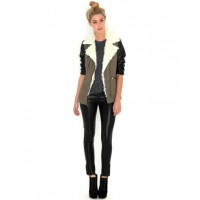 Missguided Joyce Khaki Jacket with Shearling Trim, was $87.30, now $52.37. http://www.missguidedau.com/joyce-contrast-sleeve-khaki-jacket-with-shearling-trim