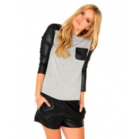 Missguided Henah Leather Detail Top in Grey, $24.43. http://www.missguidedau.com/catalog/product/view/id/62893/s/henah-leather-detail-top/