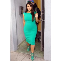 Flaunt your curvy pregnancy body. Source: Splash News via ET Online. http://www.etonline.com/fashion/128725_Kim_Kardashian_Maternity_Styles/index.html?page=16
