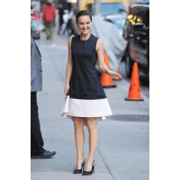 Natalie Portman wearing a Christian Dior dress and slingback pumps, plus Harry Winston jewellery, for her appearance on Late Night With David Letterman. Source: FameFlynet Pictures via Zimbio. http://www.zimbio.com/photos/Natalie+Portman/Natalie+Portman+S