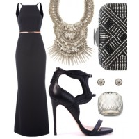 Take this look on town with a chic black dress with a shorter hemline.