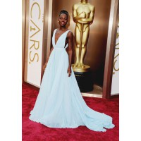 Lupita Nyong'o in Prada. Source: The Oscars/ABC. http://oscar.go.com/red-carpet/photos/2014-oscars-red-carpet-spectrum/media/476193733