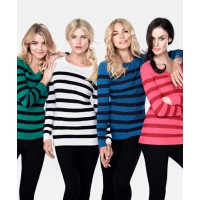Mix L/S Stripe V-Neck Sweater, $19. https://www.mixapparel.com.au/collection/product/mw23-30157/ls_stripe_v_neck_sweater