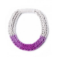 Saloukee Purls Handwoven Yarn Necklace in Blush Purple from Boticca, USD$116. http://boticca.com/saloukee/purls-hand-woven-yarn-necklace-blush-purple/22775/