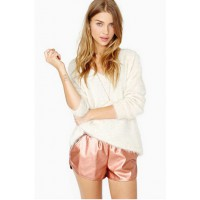Lucca Couture Flash Back Shorts in Rose Gold from Nasty Girl, USD$75. http://www.nastygal.com/product/flash-back-shorts/_/searchString/rose%20gold