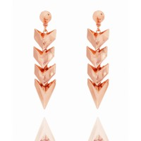 PL by Peter Lang Chitra Rose Gold Earrings, $52. http://www.peterlang.com.au/shop/item/chitra-rose-gold-earrings-