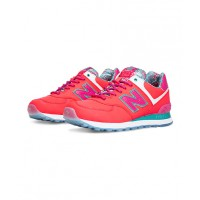New Balance Island 574 Women's Classics, $120. http://www.newbalance.com.au/Island-574/WL574-I,en_AU,pd.html?dwvar_WL574-I_color=Pink_with_Exuberant%20Pink_and_Teal&start=36&cgid=20000