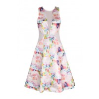 Ginger & Smart Floralescence Sleeveless Dress, $599. http://gingerandsmart.com/shapeshifterss13/ [no direct link yet]