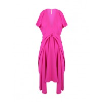 Willow Drape Tuck Dress in Pop Pink, $550. http://www.willowltd.com/dresses/drape-tuck-dress/w1/i1028116_1001202/