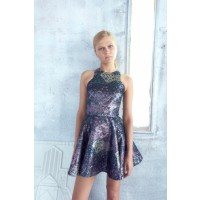 C&M CAMILLA AND MARC Barroc Dress, $299. http://www.camillaandmarc.com/barrococ-dress-pink-w-green.html