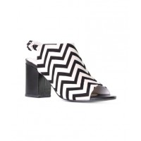 Nude Footwear Samba Heels in Black/White Zigzag. http://nudefootwear.co/browse.aspx?season=SP13&type=Heels&page=5
