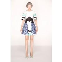 Nicola Finetti Floral Zig-Zag Cape Dress, $480. http://www.nicolafinetti.com/eboutique/collections/1040-floral-zig-zag-cape-dress.html