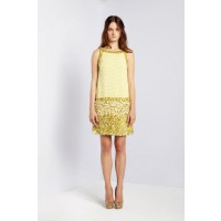 Collette Dinnigan Garden in Giverny Lemon Drop Sleeveless Dress, $1690. http://shop.collettedinnigan.com.au/lemon-drops-sleeveless-dress/