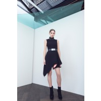 CAMILLA AND MARC Separation Dress in Black, $599. http://www.camillaandmarc.com/separation-dress-black-w-white.html