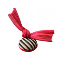 Philomena Kwok Millinery Miss Libertine Striped Jinsin Button Hat with Red Sculptural Bow, $150. http://philomenakwok.com.au/miss-libertine.html