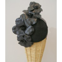 Julie Fleming Black Hat with Leather Flowers, $395. http://www.juliefleming.com.au/457-black-hat-with-leather-flowers.html